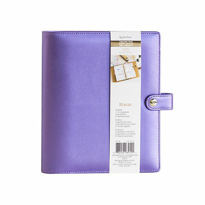 NEW Recollections Creative Year A5 6 Gold Ring Planner Binder - Purple