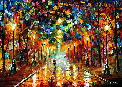 """Farewell To Anger  —  Oil Painting On Canvas By Leonid Afremov - Size: 36""""x24"""""""