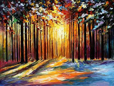 "SUN OF JANUARY — Oil Painting On Canvas By Leonid Afremov Size: 40""x30"""
