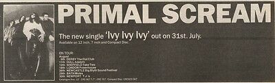 5/8/89Pgn04 Advert: Primal Scream The New Single 'ivy Ivy Ivy' & Tour 3x11