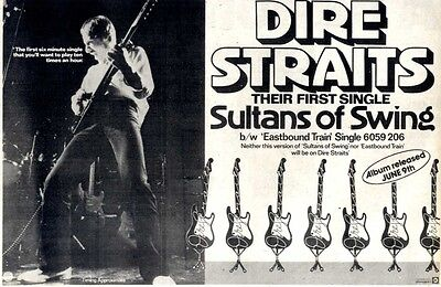 "Advert 8X12"" Dire Straits : Sultans Of Swing"