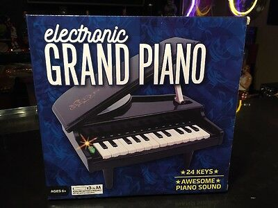 """ELECTRONIC BABY MINI GRAND PIANO -Musical Toy Christmas Gift NEW! 11""""width x 5""""H"""