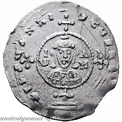 Byzantine Silver Miliaresion Coin John I Tzimisces 969-976 Ad Constantinople