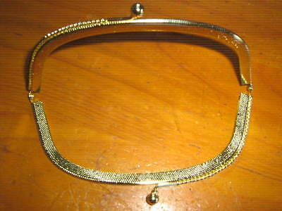 Vintage Purse Metal gold tone Frame Kiss Clasp Bags Tools