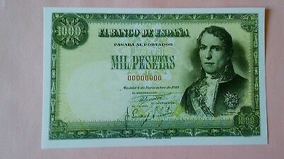 World banknote Spain 1000 pesetas 1949 Quality Scarce REPRODUCTION