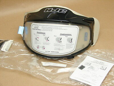 New NOS HJC Electric Double Lens Clear Snowmobile Helmet Shield HJ-07D