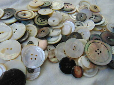Eight Ounces Mother of Pearl Buttons