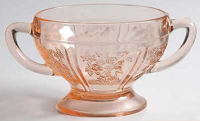 Federal Glass Company SHARON PINK Open Sugar Bowl 124659