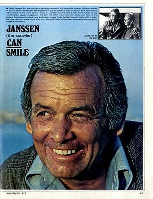 David Janssen (The Scowler) Can Smile Article & Picture