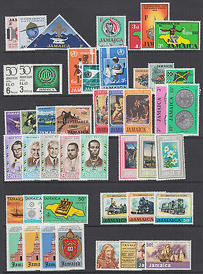 Jamaica Sc 233//405 MLH. 1964-1975 issues, 27 complete sets, F-VF