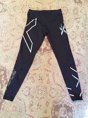 2XU Men's Black w/ Silver Nylon Compression Tights NWOT! Size M