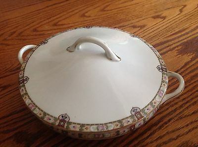 Antique Noritake Nippon China Vegetable Bowl With Lid.  Covered Bowl