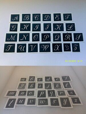 small capital lower case letter stencils for etching glass mixed 1 high