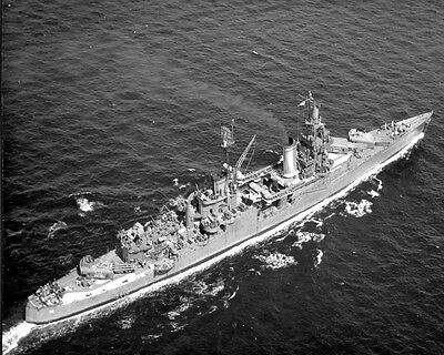 USS Indianapolis (CA-35) U.S. Navy Ship Flagship Cruiser Sunk 1945 Photo
