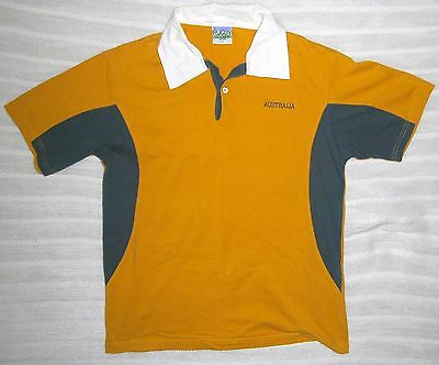 size L AUSTRALIAN WALLABIES RUGBY UNION collared polo shirt