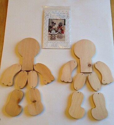 "Blessings ""The gingerbreads"" Gingerbread Man Pattern 21"" Wooden Dolls Kit"