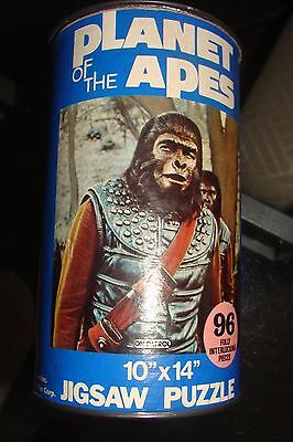 """Planet of the Apes Puzzle Can 95/96 Pieces 1967 10 x 14 HG TOYS """"On Patrol"""" TV"""