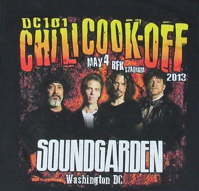 SOUNDGARDEN DC 101 Chili Cook-Off May 4 2013 Tour Concert Shirt S Chris Cornell