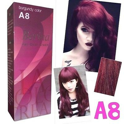 Berina A8 Professional Permanent Hair Dye Cream Burgundy Color Punk Hair Style