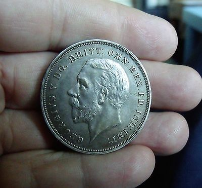 1935 GEORGE V CROWN, old, vintage, silver, collectable.  UNC ?   SC0003