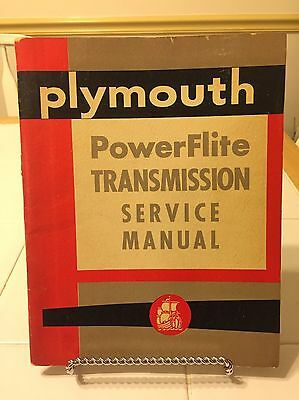 Plymouth Power Flite Transmission Service Manual No.D-15002, Vintage