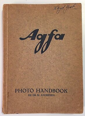 Vintage 1930's Agfa Photo Handbook by Dr. M. Andresen - Germany