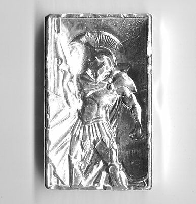 HACMint 5.9 oz Fine Silver KNIGHT Concave Hand Poured ART BAR
