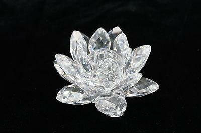 Swarovski Crystal Lotus Flower Water Lily Candle Holder