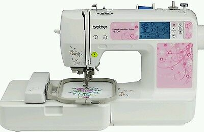 Brother PE500 easy to use built in stitches all accessories come with it