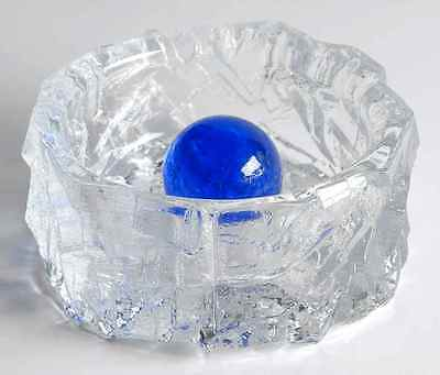 Daum FIGURINES & GIFTWARE Vanoise 12 Ashtray W/Blue Ball 8969029