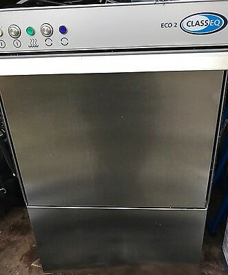 Classeq Eco 2 Commercial Glasswasher Less Than 12 Months Old Gravity Drain Model