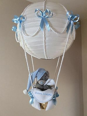 Hot Air Balloon Lamp light shade with  embroidered blanket