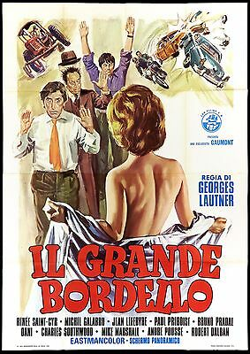 Il Grande Bordello Manifesto Cinema Film Sexy Strip France 1972 Movie Poster 4F