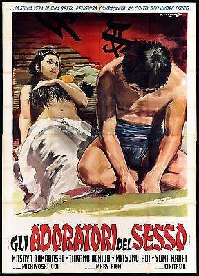 Gli Adoratori Del Sesso Manifesto Cinema Film Japan Erotico Sexy Movie Poster 4F