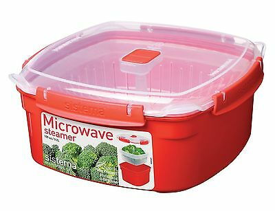 Sistema Microwave Cookware Steamer Large 108.2 Ounce/ 13.5 Cup Red