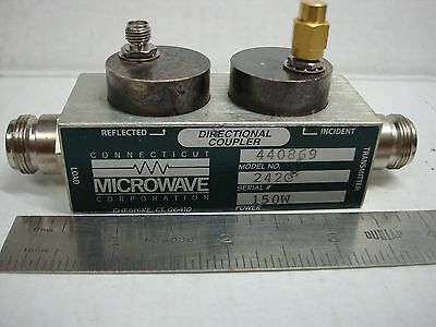 Connecticut Microwave 242C 150 Watts Directional Coupler N-F Sma-F Ends N.o.s.