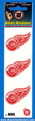 Detroit Red Wings (Pack of 2 sheets) NHL Logo Okee Dokee Sticker Decals