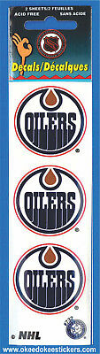Edmonton Oilers (Pack of 2 sheets) NHL Logo Okee Dokee Sticker Decals
