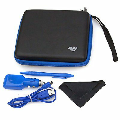ButterFox 2DS Accessory Travel Pack / Case for Nintendo 2DS: Black/Blue