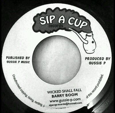 """Barry Boom–Wicked Shall Fall 7"""" - New (Jah Shaka Crack of the Whip)"""