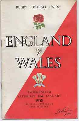 1960-England V Wales -Five Nations Triple Crown-International Rugby Programme