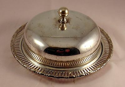 Walker & Hall Silver Plate Butter Dish and Lid with Glass Liner