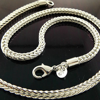 A902 Genuine Real 925 Sterling Silver Sf Unisex Mens Ladies Chain Necklace Chain