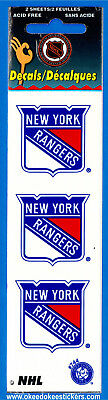 New York Rangers (Pack of 2 sheets) NHL Logo Okee Dokee Sticker Decals