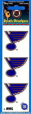 ST. Louis Blues (Pack of 2 sheets) NHL Logo Okee Dokee Sticker Decals