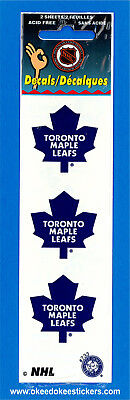 Toronto Maple Leafs (Pack of 2 sheets) NHL Logo Okee Dokee Sticker Decals