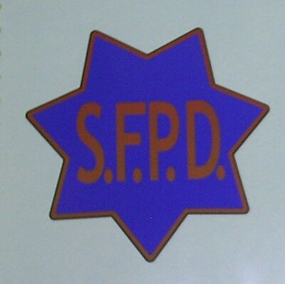"San Francisco Police Dept SFPD Decal Sticker 8"" Inch"