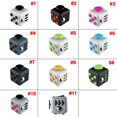 New Magic Fidget Cube Anti-anxiety Focus Adults Stress Relief Kids Toy Xmas Gift