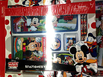 Mickey Mouse Stationery Set Gift Set Color Pencil, Pencil box, Eraser, Badge