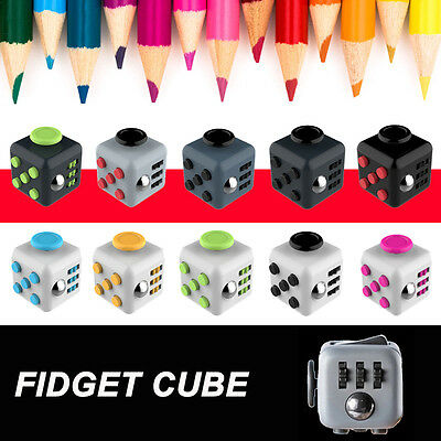 Fidget Cube Toy Stress Relief Focus For Adults Children 6+ ADHD&AUTISM Xmas Gift